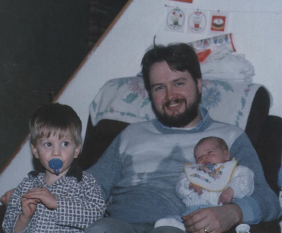 Matt Kean with his father and brother