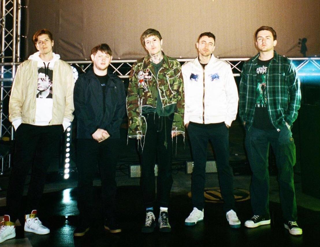 Matt Nicholls with his band members