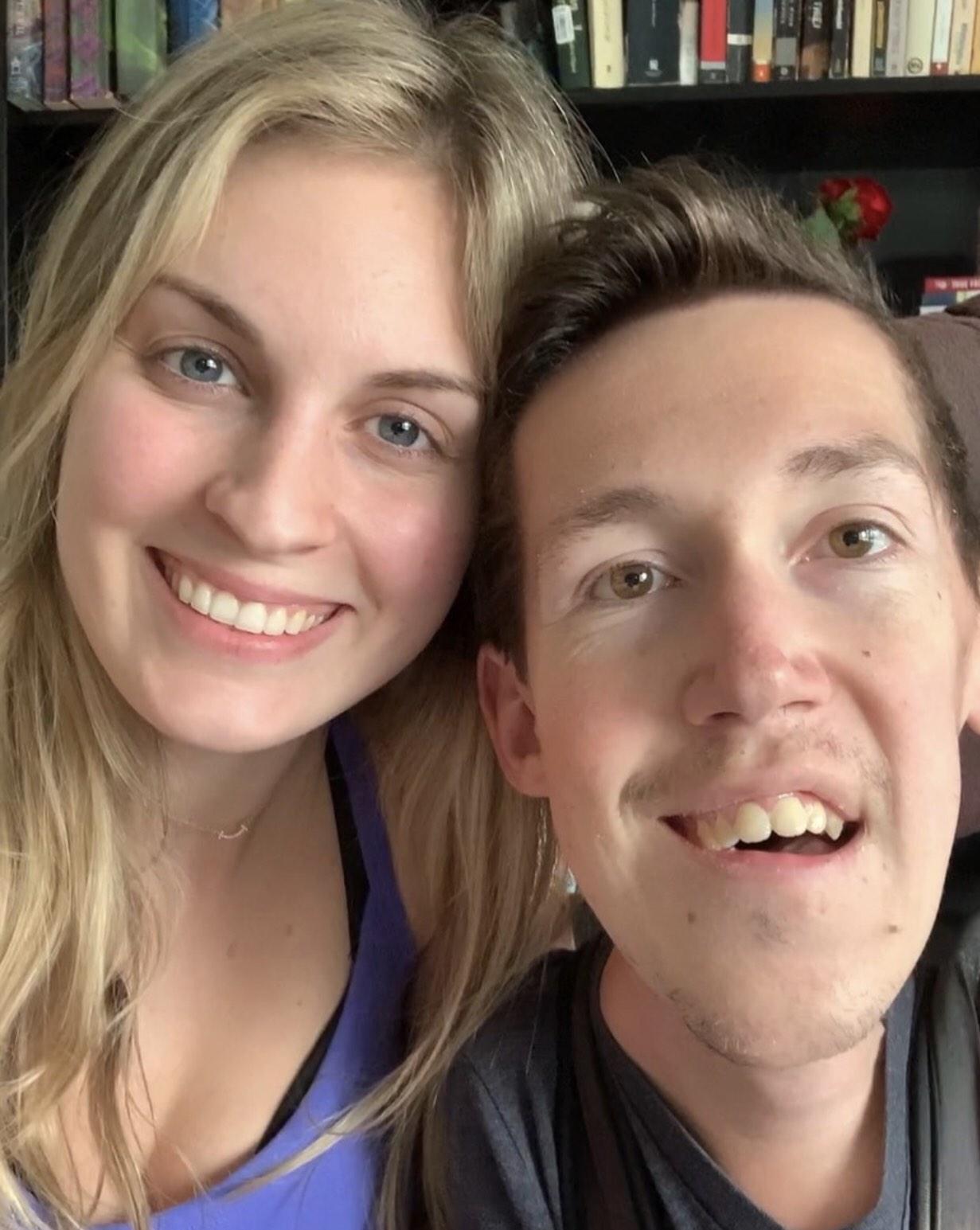 Shane Burcaw and Hannah Burcaw