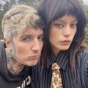 Oliver Sykes with his wife Alissa Salls