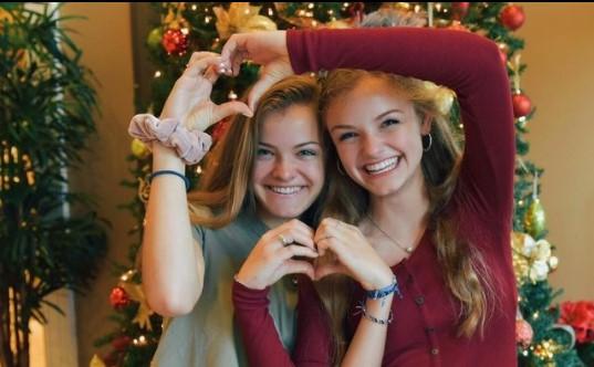 Jacy and Kacy celebrating christmas.
