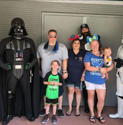 Amanda Huber with family