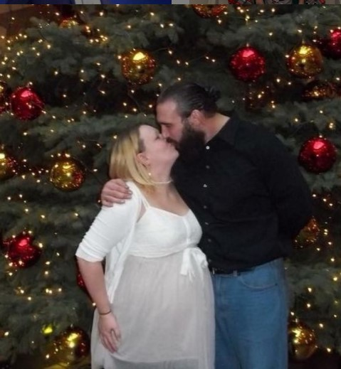 Amanda Huber with her husband