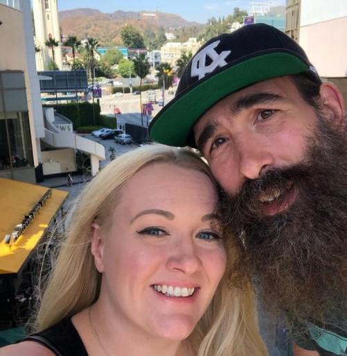 Amanda Huber with husband