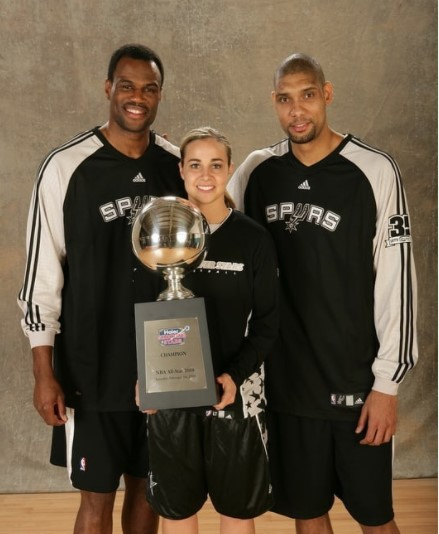 Becky Hammon with Trophy