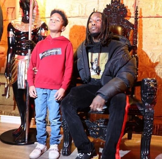 Jordan Cephus with his father