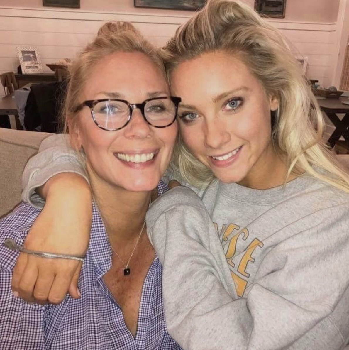 Leanne Morgan with her daughter
