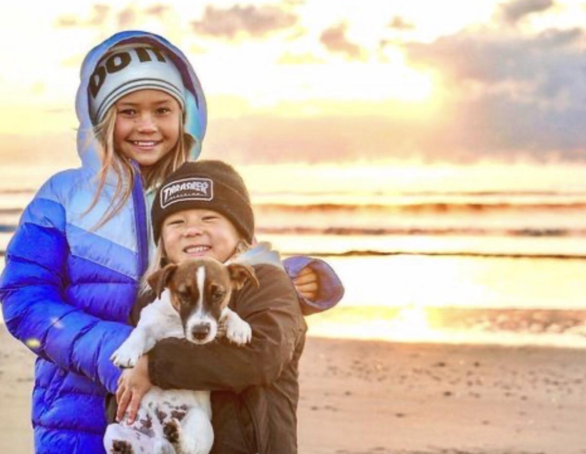 Ocean Brown with his sister Sky Brown