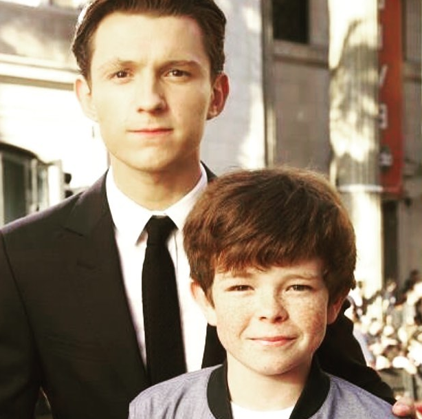 Paddy Holland with Tom Holland