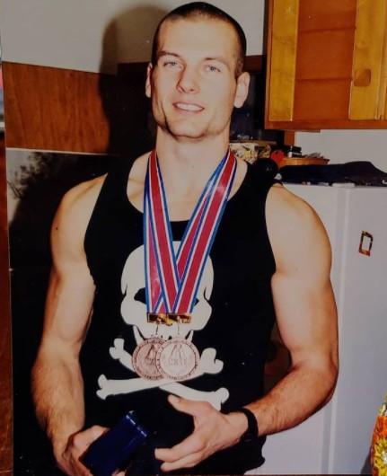 Devol Larratt with his medals