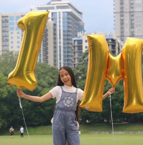 Vanessa Anne Williams celebrating 1 Million