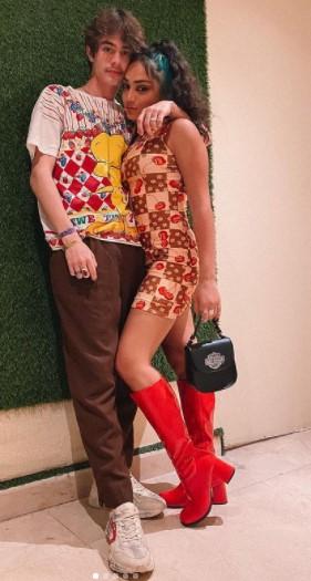 Avani Gregg with her Boyfriend