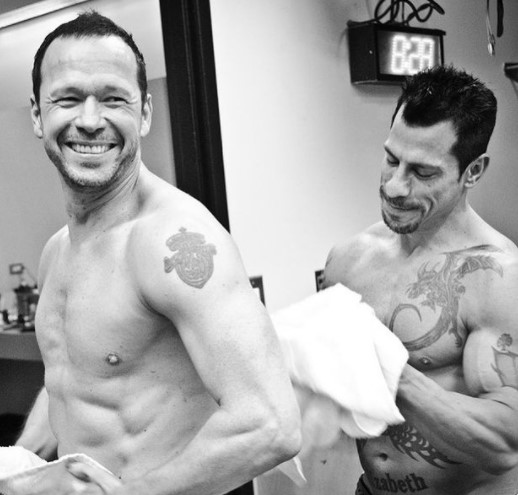 Donnie Wahlberg with friend