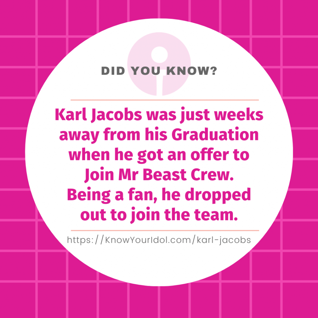 Karl Jacobs Facts